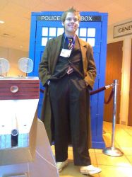 The Doctor in the TARDIS by NickIzumi