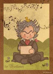 Beethoven at work by SusiKISS