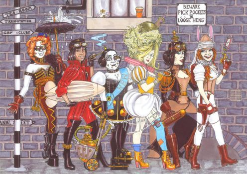The Venturous Inventor and the Steampunk Hen Night by AndrewJohnCraven