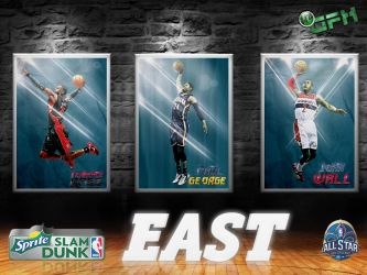 2014 Sprite NBA Slam Dunk Contest: East by HZ-Designs