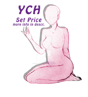 [OPEN] YCH female kneeling points or paypal by Raben-Katze