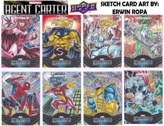 Agent Carter sketch cards 05 by EuROPA777