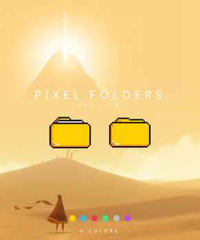 Pixel Folder Icons by MunaNazzal