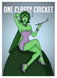 Commission - One Classy Cricket by Femmes-Fatales