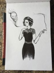 Inktober/ 31Witches Day 5 by Kr3ssidia
