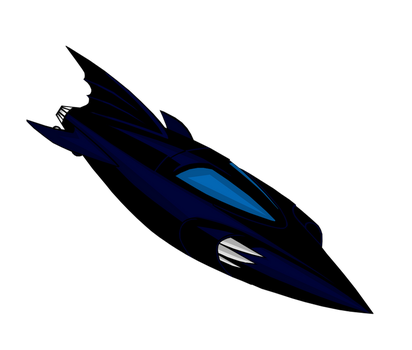 The Batboat from Batman: The animated series by Alexbadass