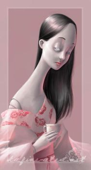 Doll-face takes tea by kafine