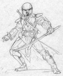 Mandalorian Swordsman by Kuk-Man