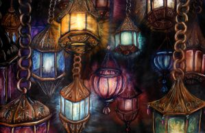 Hanging Lanterns by KaeMcSpadden