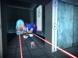 'SONIC' made it through the test chamber by mixlou