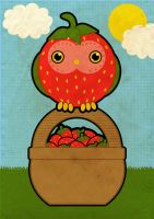 The Strawberry Owl by weeredfrog