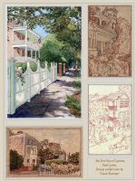 Four Views of Charleston, South Carolina by Built4ever