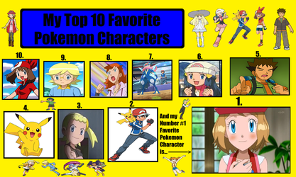 My Top 10 Favorite Pokemon Characters by HAKDurbin