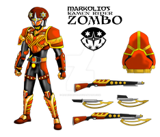 COMMISSION : Kamen Rider Zombo - Cashew Arms by RamenDriver