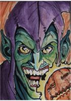 Green Goblin Sketch Card by shinlyle