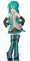 [MMD] Winged boots Miku + DL by KokoneAkita