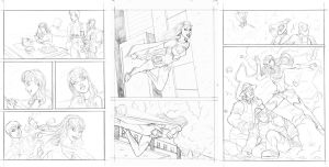 Ame Comi Supergirl base pencils sample pages by mhunt
