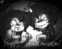 they wanna greet you a happy halloween by RadioMomo