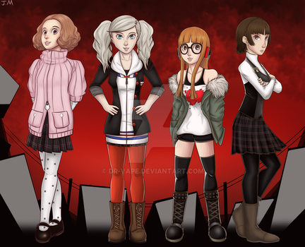 Persona 5 girls by Dr-Vape