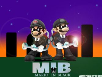 Mario in Black by tonatello