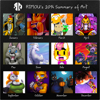 Rimou's 2014 Summary of Art by rimou