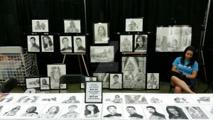 My art booth at the Louisville, KY fandom fest by DChan75