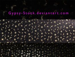 Black Satin Moons and Stars by Gypsy-Stock