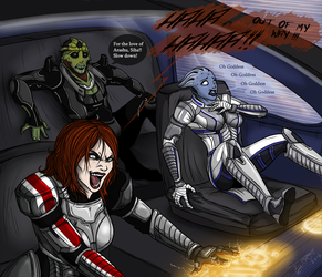 Road fury - Mass effect by Barguest