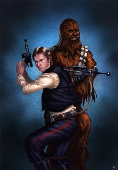 Han and Chewie by cric