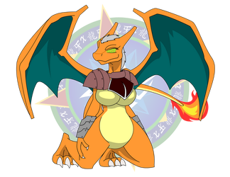 Andero the Charizard Girl by Dragon-FangX