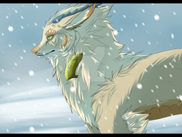 Snows abit late by Wolfvids