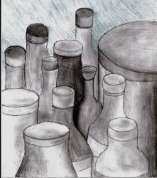 classical bottle city by RymNotrim