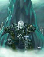 Arthas Menethil, the Lich King by pulyx