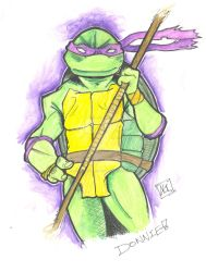 TMNT Donnie New style by AdamGaterellArts