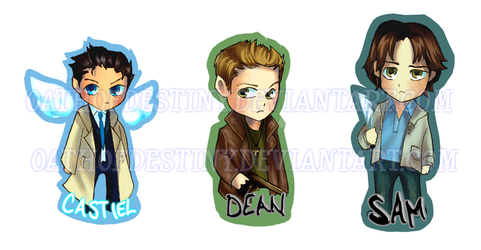 Supernatural keychains by petite-raclette