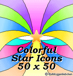 colorful Star Icons by Bulldoggenliebchen