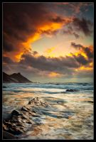 Millook Fire and Froth by Wivelrod
