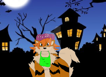 Wild Trick or Treater Appeared by inaligrimalkin
