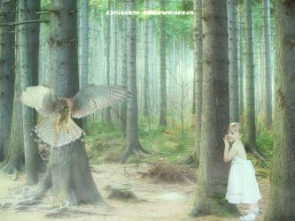 Children in the forest by IPAUM