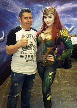Me with the russian cosplayer Irina Meier!. by Virus-Tormentor