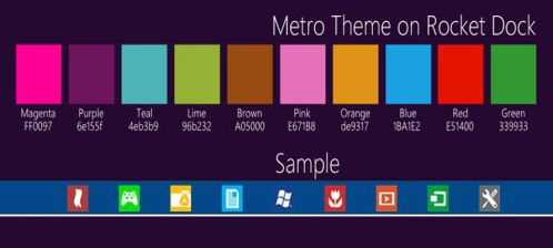 Metro Theme on Rocket Dock by XtiaN0705