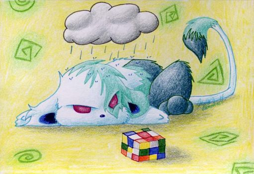 Stumped on a Cube by TranquilSimplicity