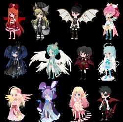OTA Multicolored Hair selfy adopts #5 (1 open) by i-am-a-fangirl