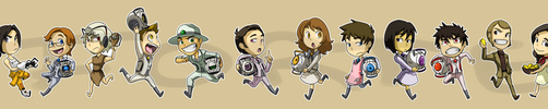 Stickers: Portal 2 by forte-girl7