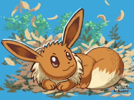 Eevee, made on Pokemon Art Academy by marianne41