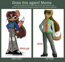 Draw This Again Meme - Nina Evans by artisticTaurean