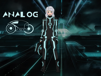 Analog - Tron OC by Pixiemage