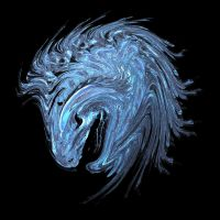 blue horse by kidjet