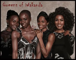 Queens of Wakanda (Black Panther) by gkgaines
