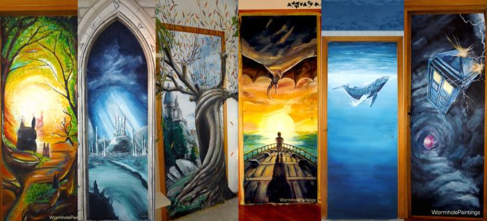 Doors to other worlds :) by WormholePaintings